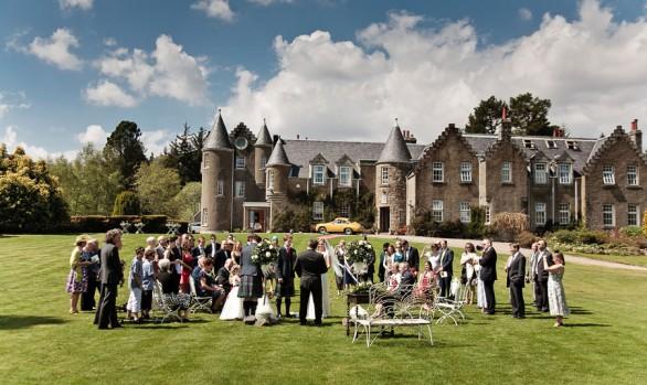 Dalmunzie Castle Summer Wedding - Evie and David