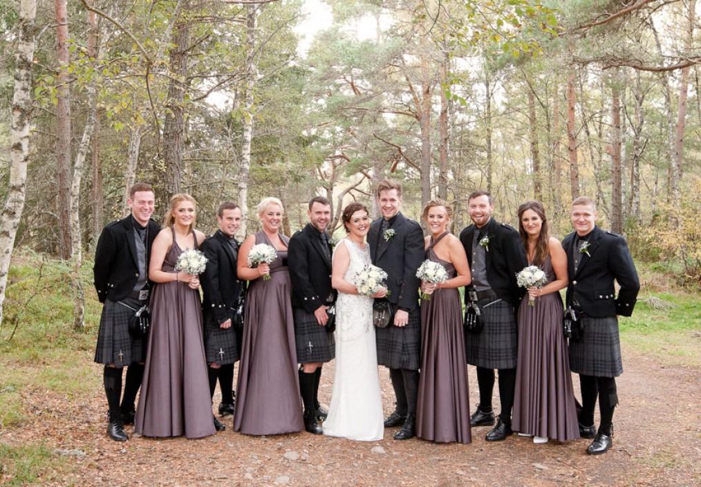 hilton coylumbridge wedding grouo shot