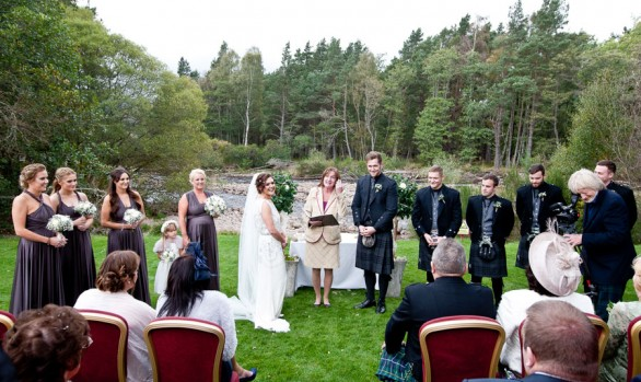 Sam and Ross - An Outdoor Speyside Wedding Ceremony