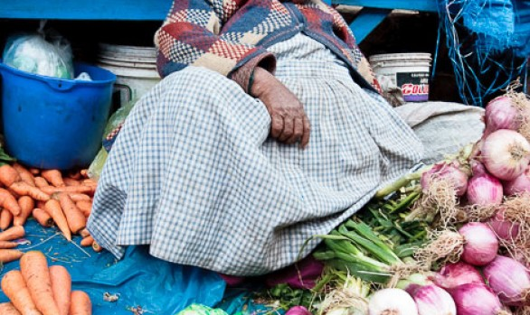 Cusco Market - Sleeping Market Trader
