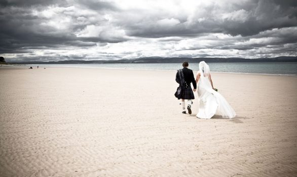 Nairn Beach - The Wedding of Ally and Margaret Mary