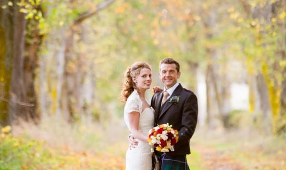 Rosehaugh Estate Simon and Ruth's Autumn Wedding