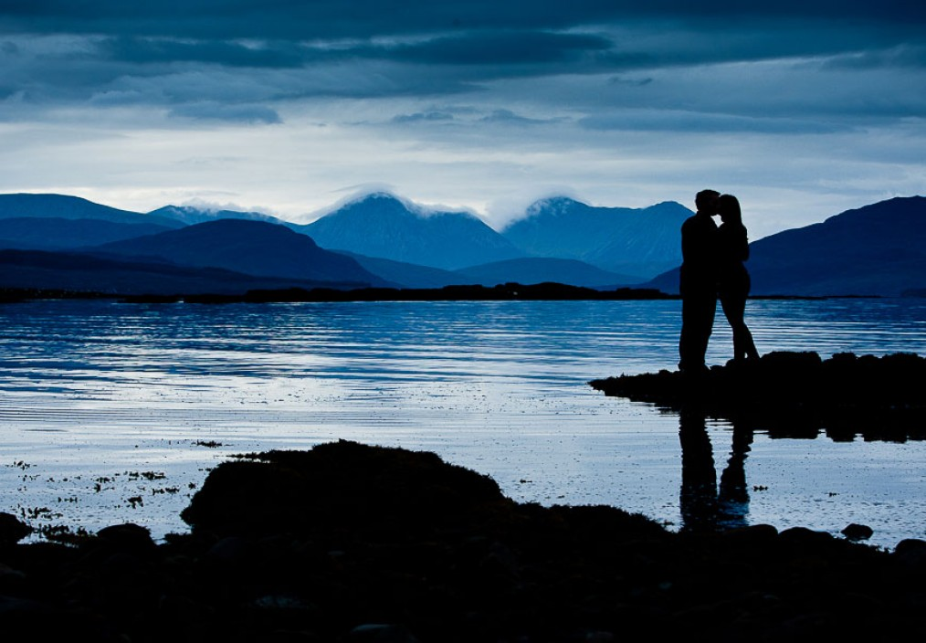 isle of skye pre wedding engagement photos cuilin hills blue