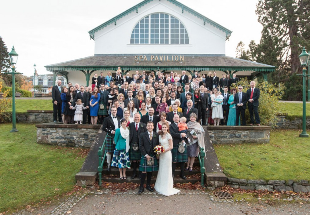 strathpeffer pavilion wedding group