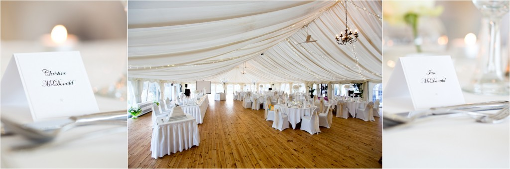 meldrum house wedding marquee