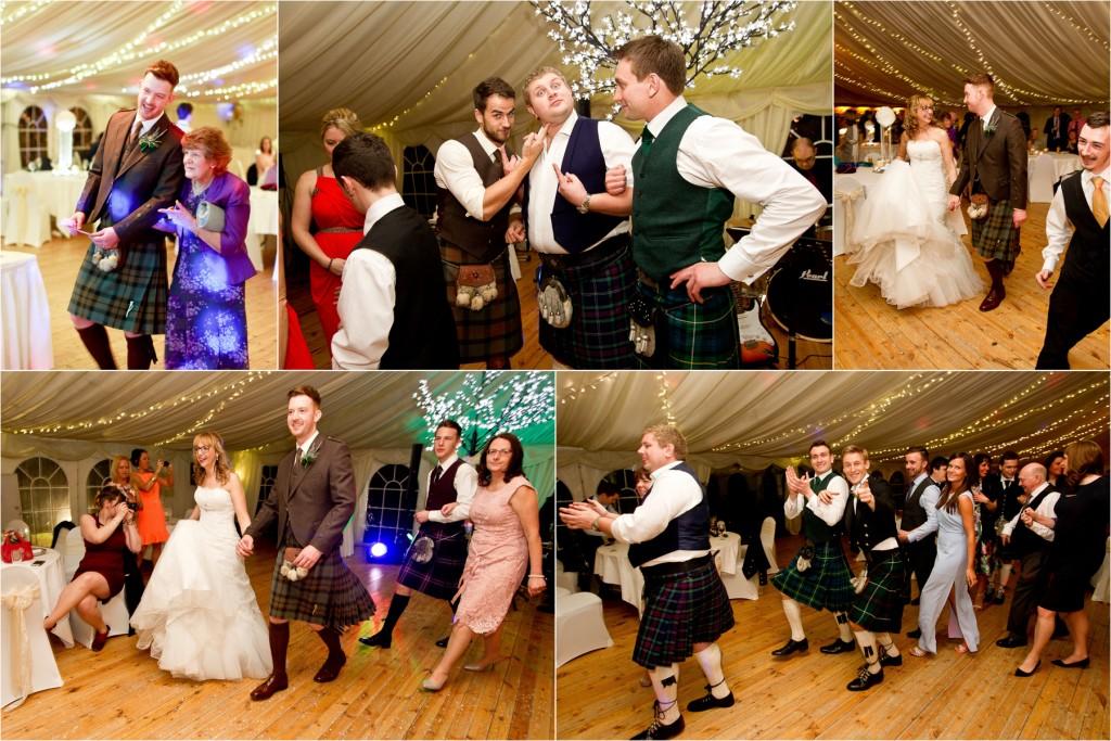 dance at meldrum house wedding