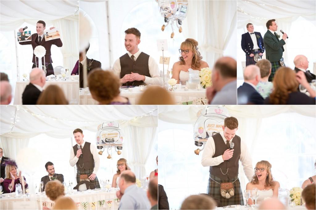 meldrum house wedding marquee speeches