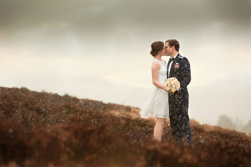 scottish wedding in the snow