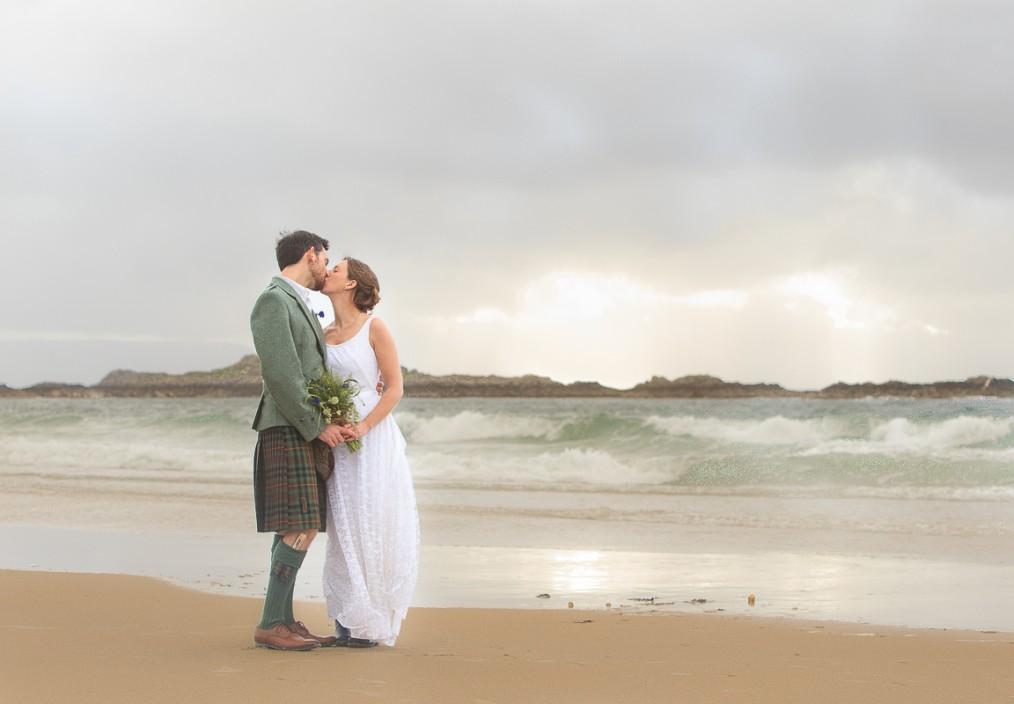 scottish beach wedding