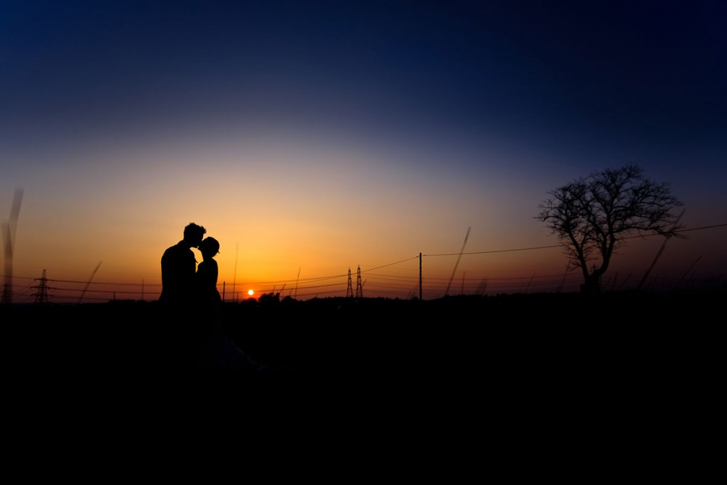 silhouette wedding photographer