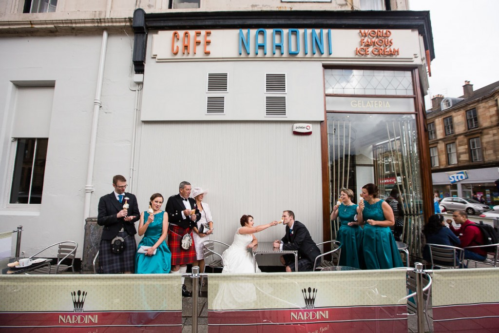 nardini's ice cream wedding