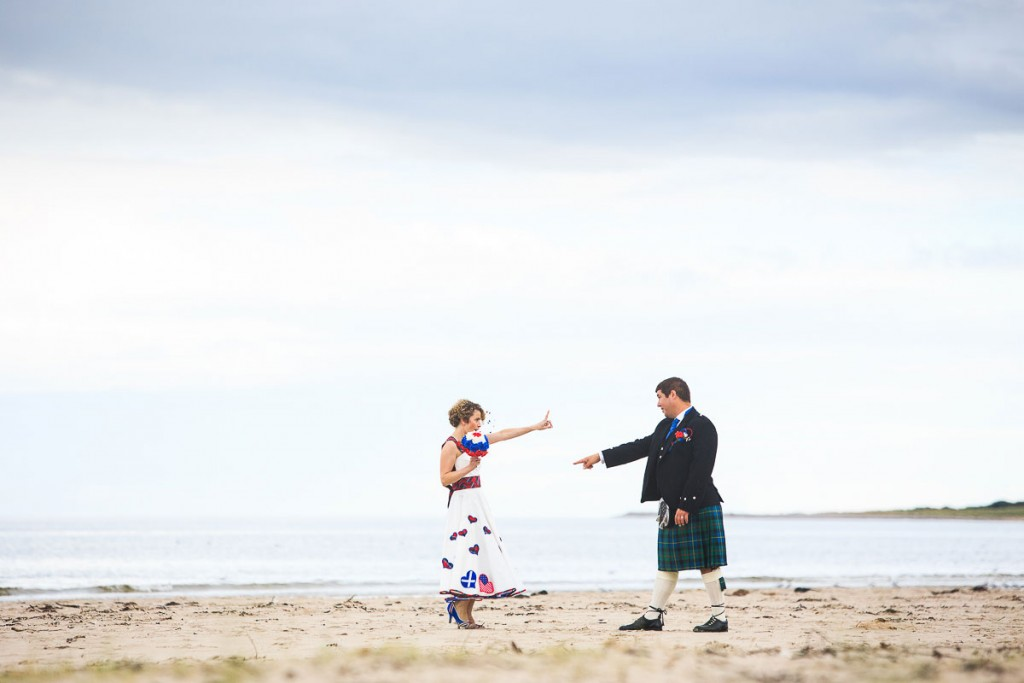 nairn beach wedding photography